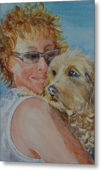 A Girl's Best Friend Metal Print