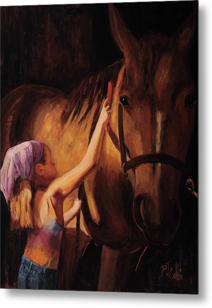A Girls First Love Metal Print
