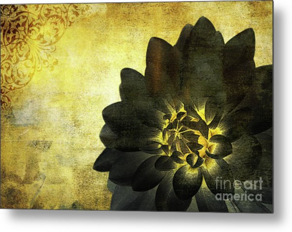 A Golden Heart Metal Print