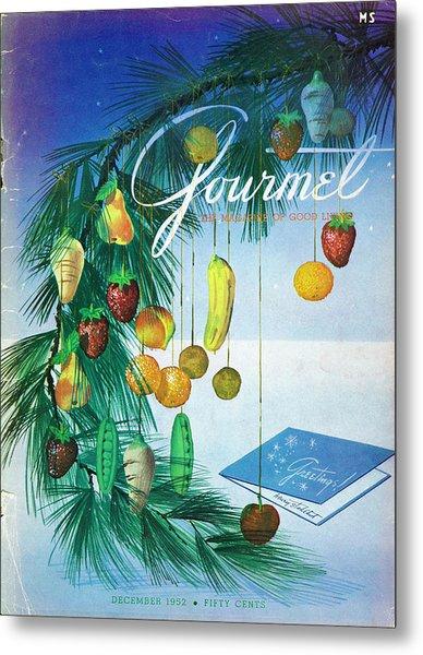 A Gourmet Cover Of Marzipan Fruit Metal Print