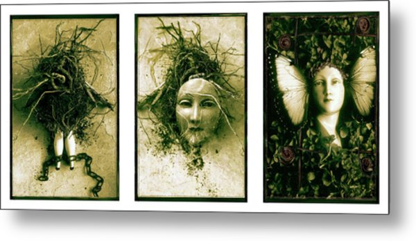 A Graft In Winter Triptych Metal Print
