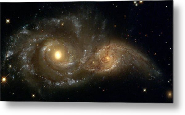 A Grazing Encounter Between Two Spiral Galaxies Metal Print