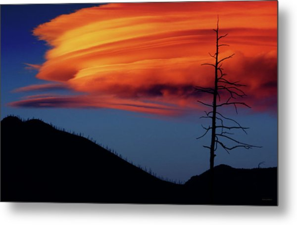 A Haunting Sunset Metal Print