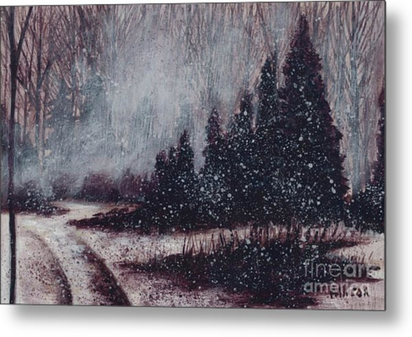 A Hazy Shade Of Winter  Metal Print