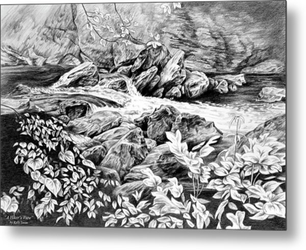 A Hiker's View - Landscape Print Metal Print