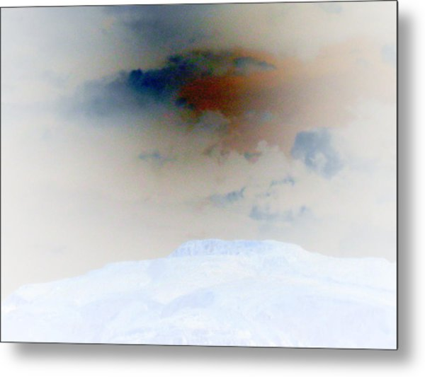 A Hill And Sky Metal Print by Eileen Shahbazian