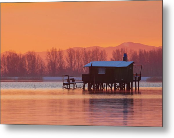 A Hut On The Water Metal Print