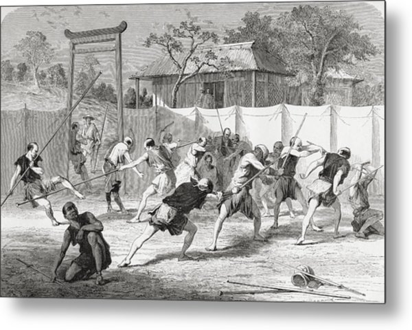 A Japanese Fencing School In The 19th Metal Print