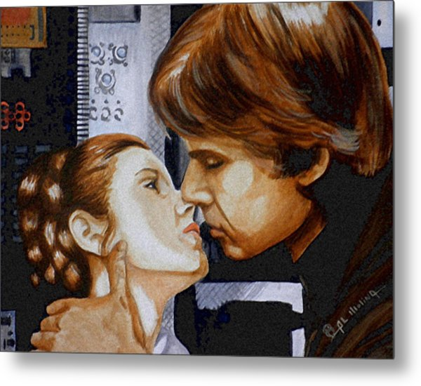 A Kiss From A Scoundrel Metal Print