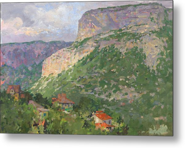 Metal Print featuring the painting  A Landscape In The Vicinity Of Maloe Sadovoe  by Denis Chernov