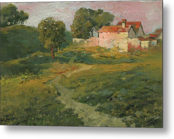 Metal Print featuring the painting A Landscape In Vicinity Of Strijigorod by Denis Chernov