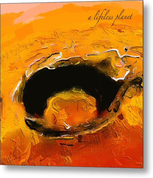 A Lifeless Planet Orange Metal Print