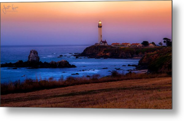 A Light On A Rock  Metal Print