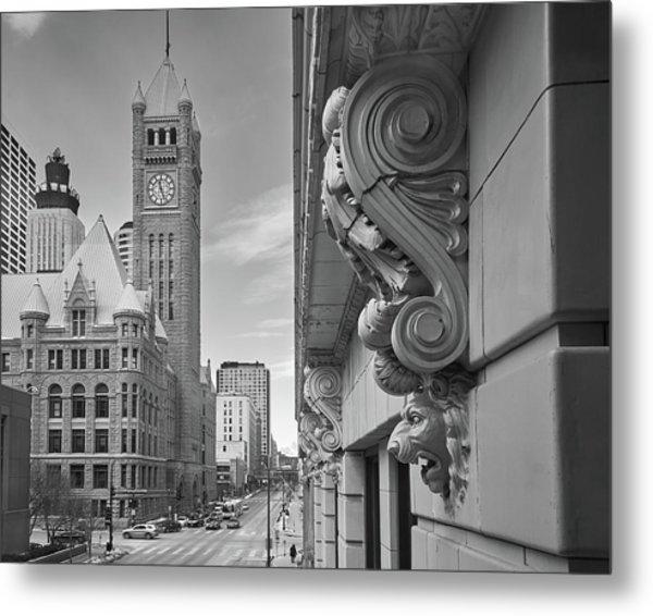 A Lion Guards  Minneapolis City Hall Metal Print