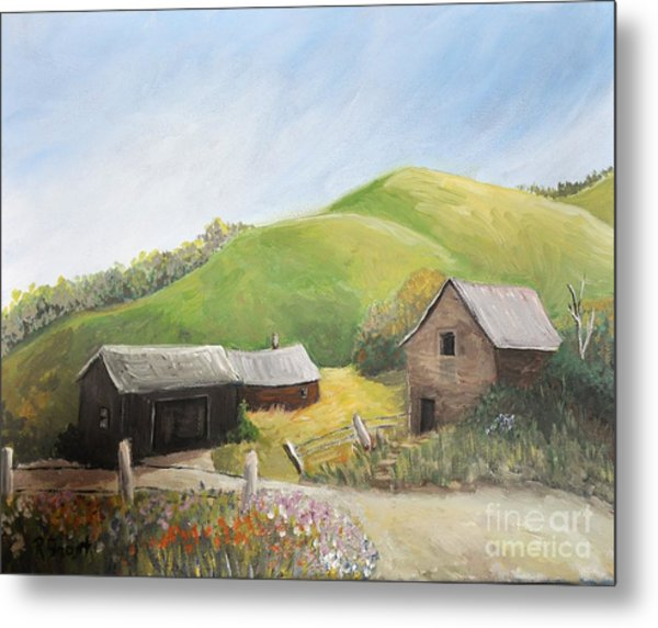 A Little Country Scene Metal Print