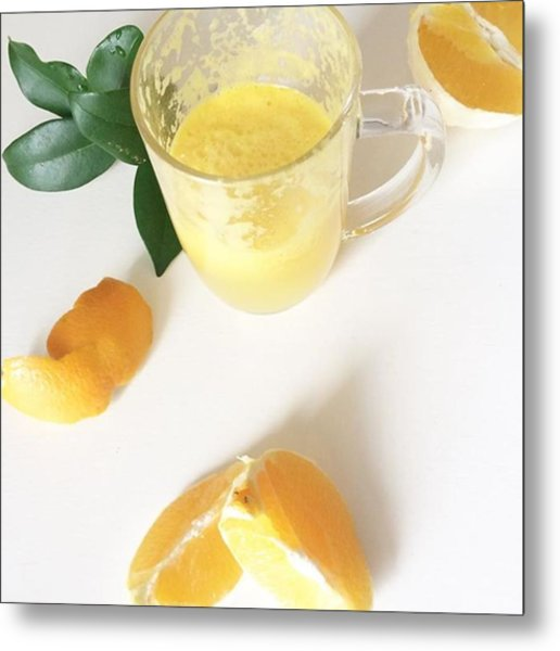 A Little Fresh Oj, Because Oranges Are Metal Print