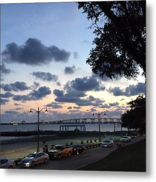 Ocean Springs Front Beach Metal Print