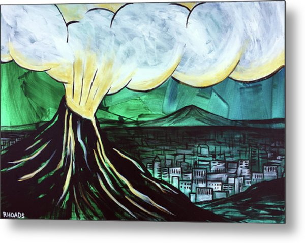 Metal Print featuring the painting A Love Explosion by Nathan Rhoads