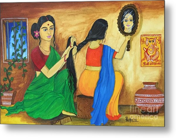 A Loving Moment  Metal Print by Pushpa Sharma