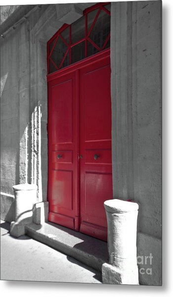 A Magic Red Door Metal Print