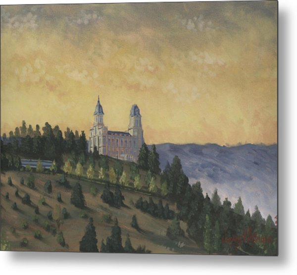 A Manti  Morning Metal Print