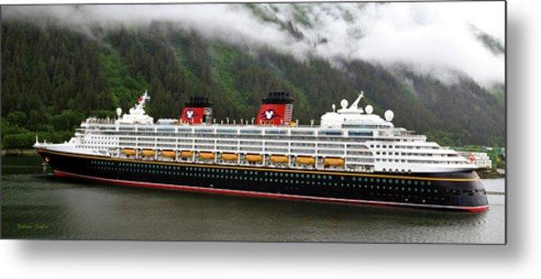 A Mickey Mouse Cruise Ship Metal Print