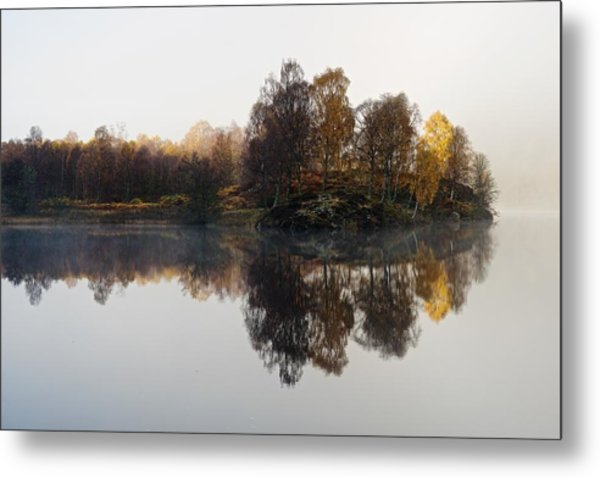 A Misty Autumn Metal Print