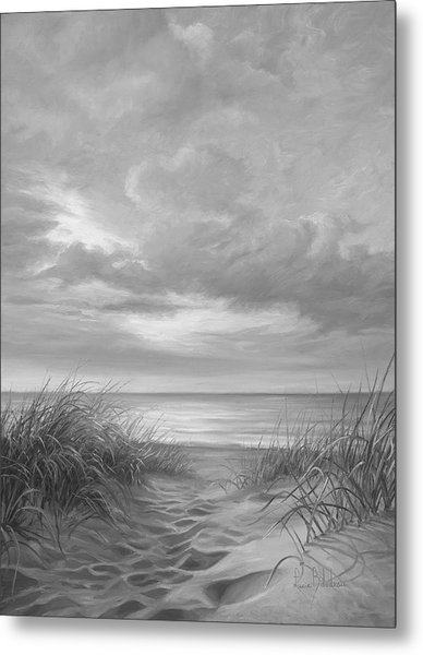 A Moment Of Tranquility - Black And White Metal Print