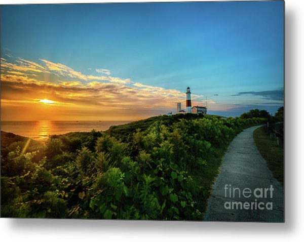 A Montauk Lighthouse Sunrise Metal Print