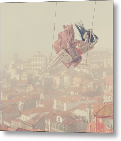 a morning over Oporto Metal Print