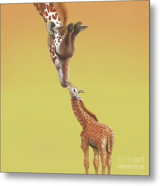 Metal Print featuring the digital art A Mother's Love by Thomas J Herring