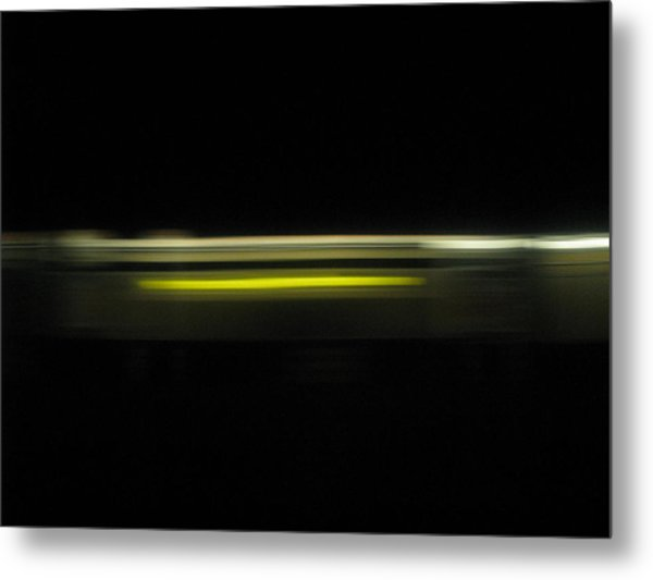 A Moving Train  Metal Print by Hasani Blue