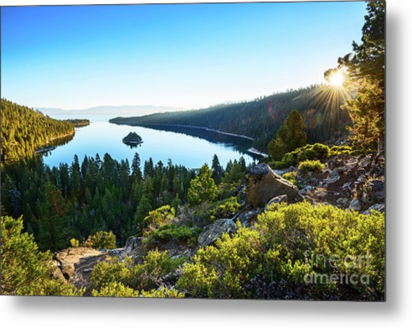 A New Day Over Emerald Bay Metal Print