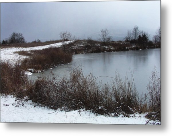 A New Dusting Falling Onto The Valley Metal Print by Terrance DePietro