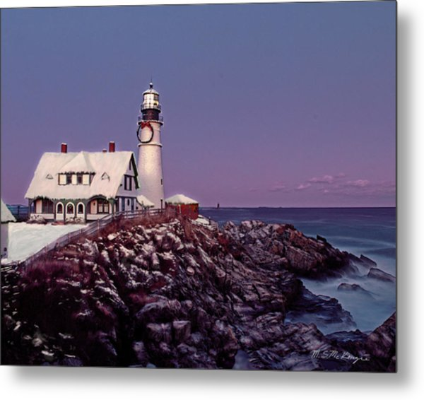 A New England Christmas Different Format Metal Print by M S McKenzie