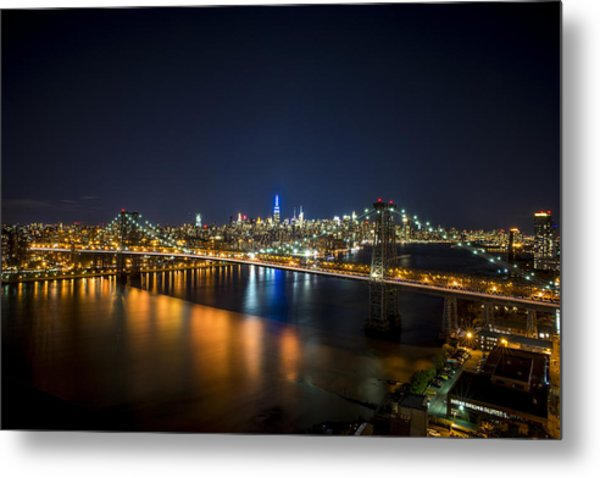 A New York City Night Metal Print