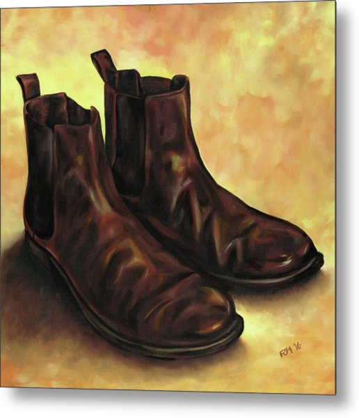 A Pair Of Chelsea Boots Metal Print