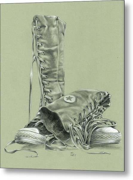 A Pair Of Fake Converse Boots Metal Print