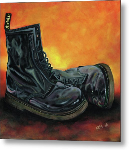 A Pair Of Patent Dr Martens Metal Print