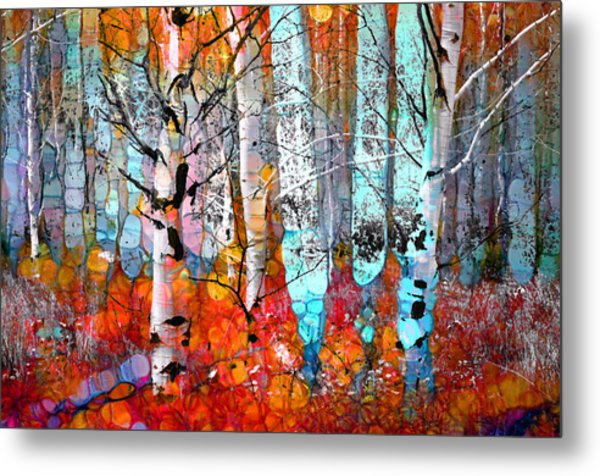 A Party In The Forest Metal Print