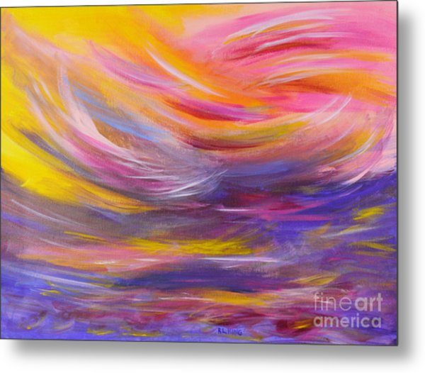 A Peaceful Heart - Abstract Painting Metal Print