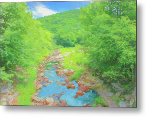 A Peaceful Summer Day In Southern Vermont. Metal Print