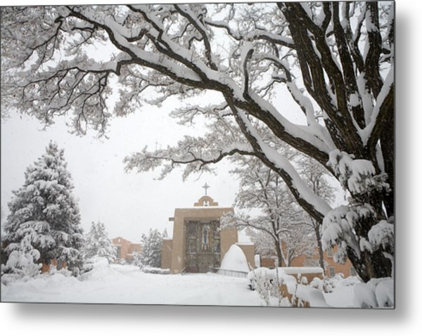 A Peaceful Winter Scene Metal Print
