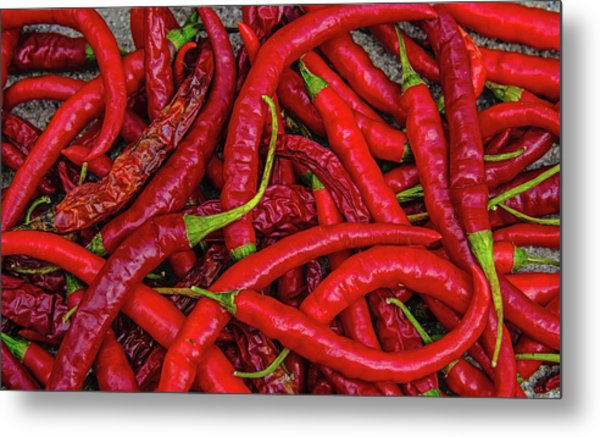 A Peck Of Unpickled Peppers Metal Print