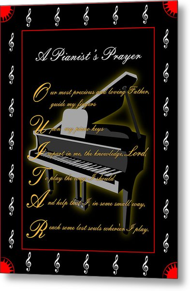 A Pianists Prayer_1 Metal Print by Joe Greenidge