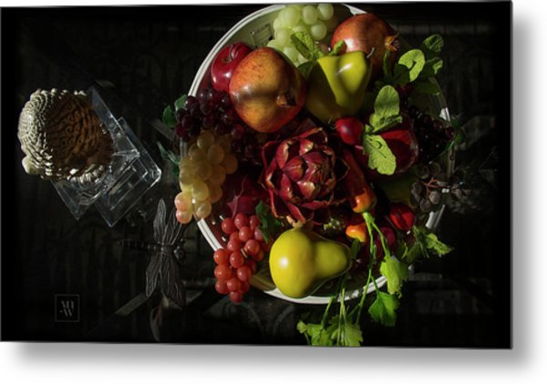 A Plate Of Fruits Metal Print