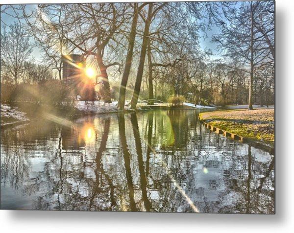 A Pond In Rotterdam Metal Print