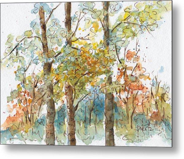 A Poplar Treeo Metal Print