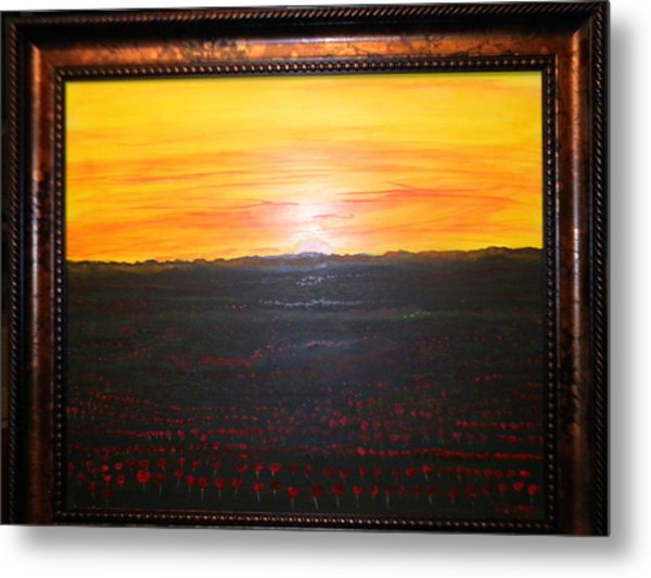 A Poppy Sunset Metal Print by Chris Heitzman