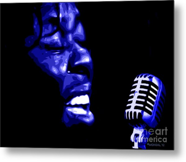 A Portrait Of Sarah Vaughan 1 Metal Print